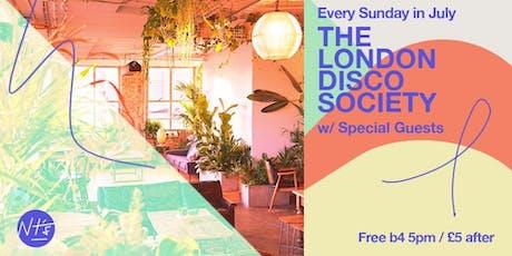 The London Disco Society Free Summer Sunday Series tickets