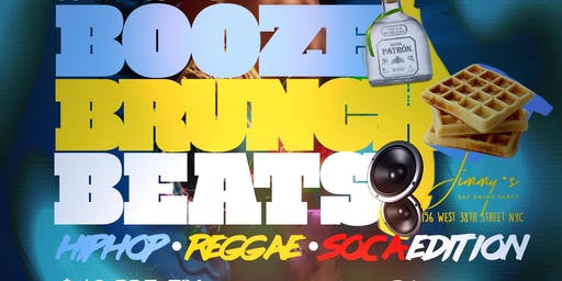 Booze Brunch Beats, 2hr Open Bar Brunch + Day Party, Hiphop Reggae Soca