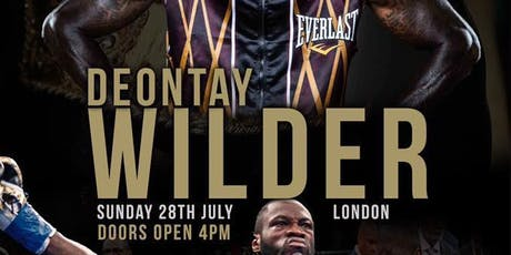 An Audience with Deontay Wilder tickets