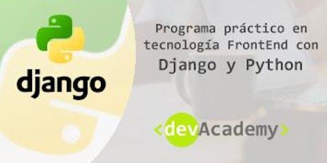 [Formación]Programa práctico en tecnología FrontEnd con Django(10h) entradas