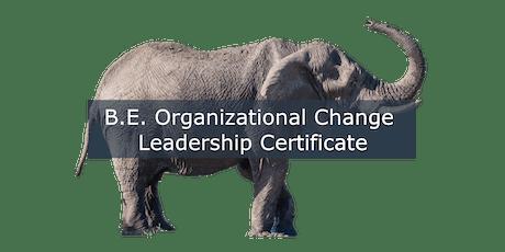 B.E. Organizational Change Leadership Certification Program tickets