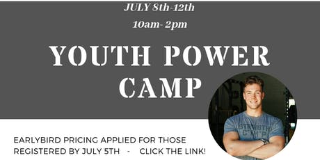 Youth POWER Camp.  tickets