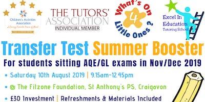 Transfer Test Summer Booster Workshop