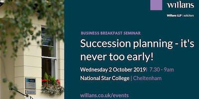 Willans' breakfast seminar - Succession planning