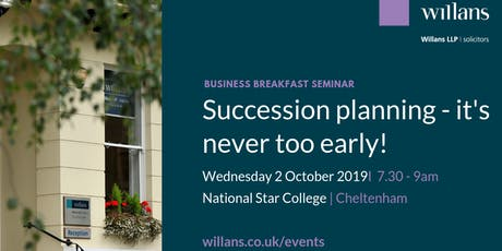 Willans' breakfast seminar - Succession planning tickets