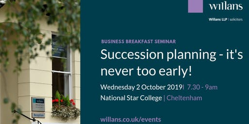 Willans' breakfast seminar - Succession planning