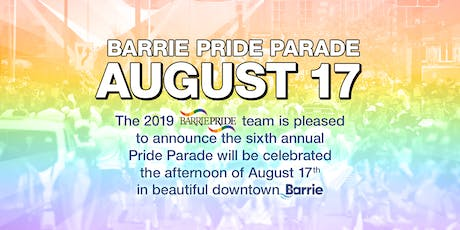 Barrie Pride Parade tickets