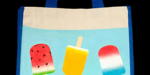 "Open Paint (8yrs+) ""Paint a Tote Bag, Summer Flavors"""