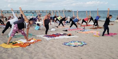 Full Moon Beach Yoga