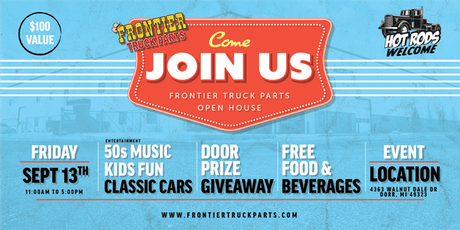 Frontier Truck Parts Grand Opening tickets