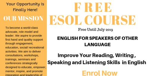 English for Speakers of Other Languages (ESOL)