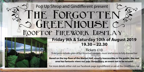 Forgotten Greenhouse 2019 tickets