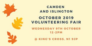 Camden and Islington October 2019 Volunteering Fair