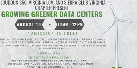 Growing Greener Data Centers tickets