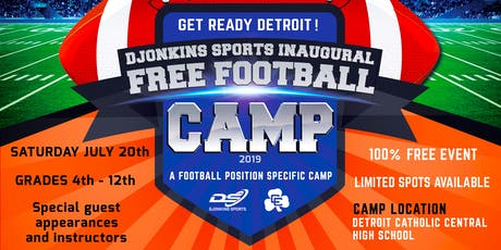DJonkins Sports Inaugural FREE Football Camp - Michigan Edition tickets