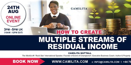 Multiple Streams of Residual Income Online Event tickets