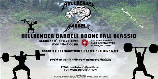 Hellbender Barbell Boone Fall Classic