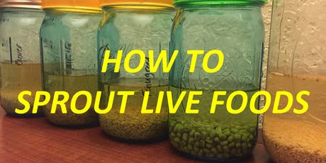 AMP UP YOUR HEALTH SERIES! Part THREE: How to Sprout Live Foods tickets