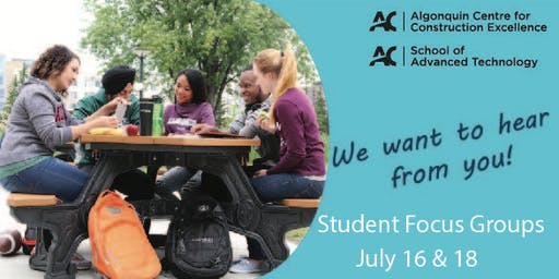 Student Focus Groups Spring 2019 - SAT & ACCE
