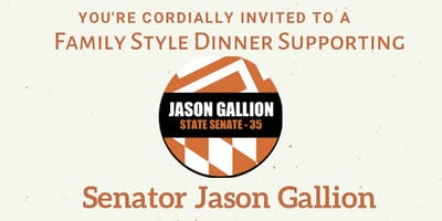 Family Style Dinner With Senator Jason Gallion