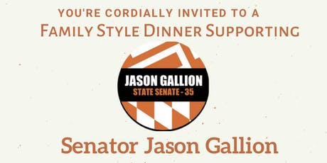 Family Style Dinner With Senator Jason Gallion tickets