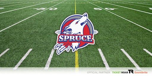 Spruce vs Wilmer Hutchins JV Football