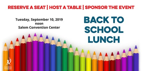 SKEF Back to School Lunch tickets