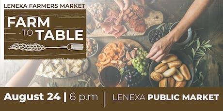 Farm to Table Dinner at Lenexa Public Market tickets