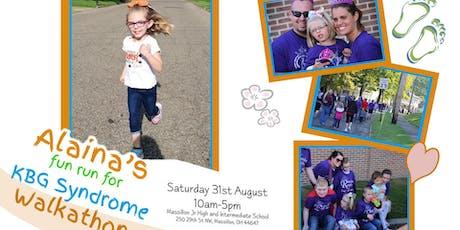 Alaina's Fun Run for KBG Syndrome: Walkathon tickets