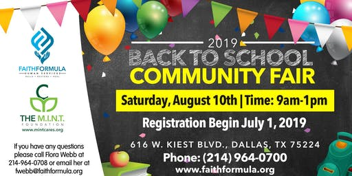 2019 Community Back to School Fair