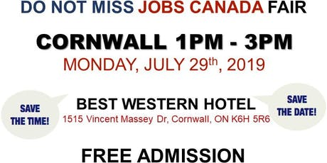 Cornwall Job Fair - July 29th, 2019 tickets