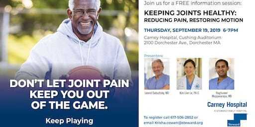 KEEPING JOINTS HEALTHY: REDUCING PAIN, RESTORING MOTION PRESENTATION