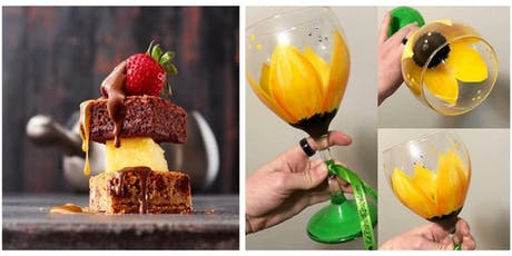 Wine Glass Painting & Fondue Night at Melting Pot  8/28/19 tickets