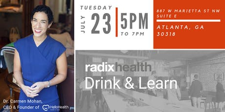 Radix Health Drink & Learn with Dr. Carmen Mohan tickets