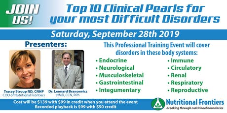 The Top 10 Pearls for Your Most Difficult Disorders tickets