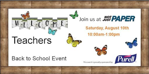 Back to School Teacher Event at Not Just Paper