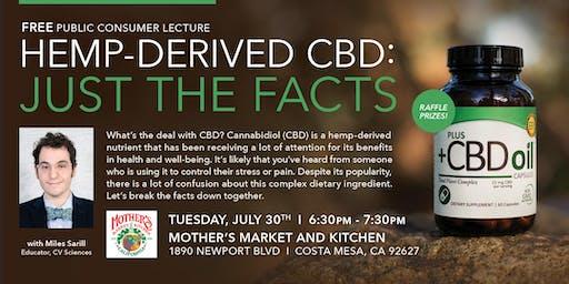 Hemp Derived CBD- Just The Facts