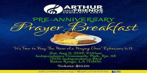 Arthur & Friends Community Choir Pre- Anniversary Prayer Breakfast