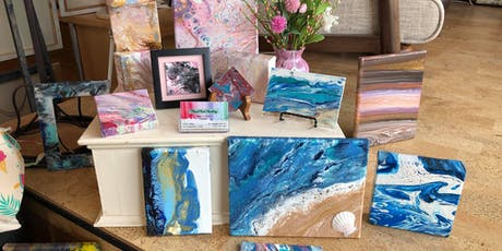 Friday Night Acrylic Pour Painting Class tickets