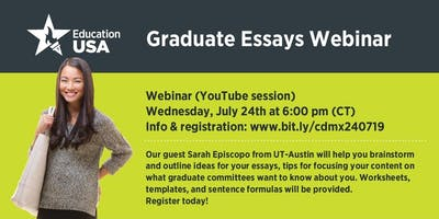 WEBINAR: Graduate essays workshop with The University of Texas at Austin