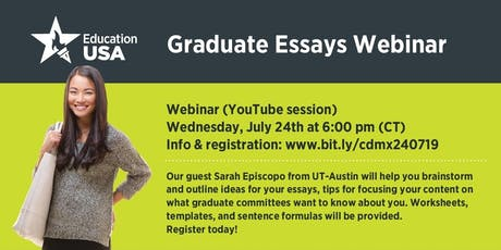 WEBINAR: Graduate essays workshop with The University of Texas at Austin tickets