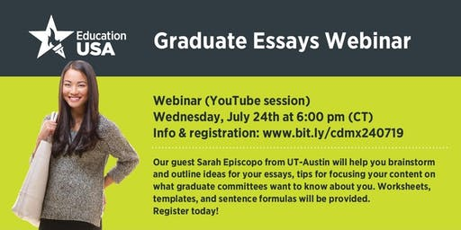 WEBINAR: Graduate essays workshop with The University of Texas at Austin