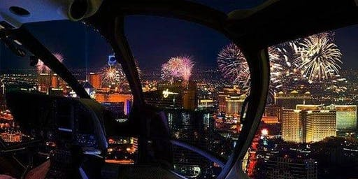 LAS VEGAS NYE FIREWORKS HELICOPTER SPECTACULAR