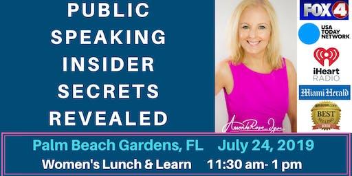 Public Speaking Insider Secrets Revealed: Women's Lunch & Learn Event