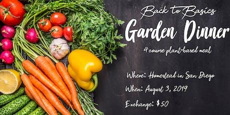 Back to Basics Garden Dinner tickets