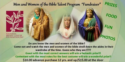 Men and Women of the Bible Talent Program - Fundraiser NBCF