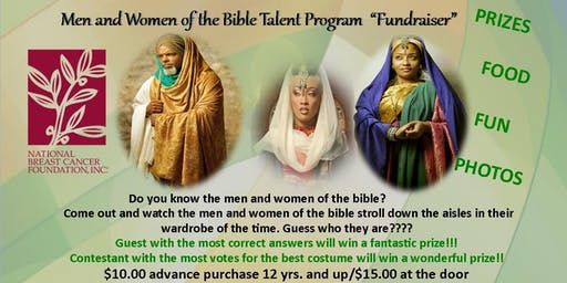 Men and Women of the Bible Talent Program - Fundraiser NBCF