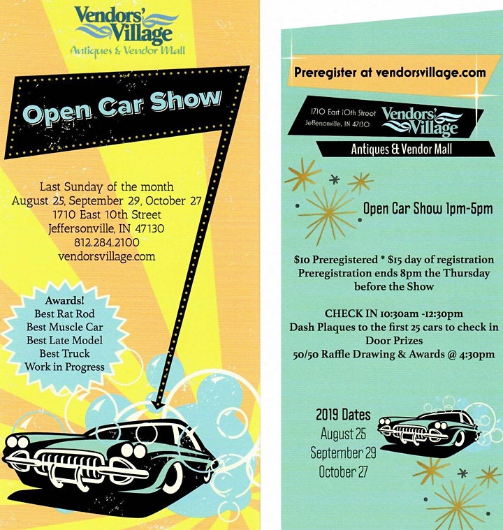 Open Charity Car Show image