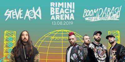 Steve Aoki Boomdabash Rimini Beach Arena 13 Agosto 2019