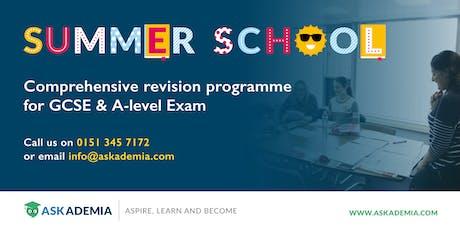 A-Level Summer School 2019 tickets